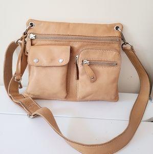 Fossil Tan Leather Crossbody Bag